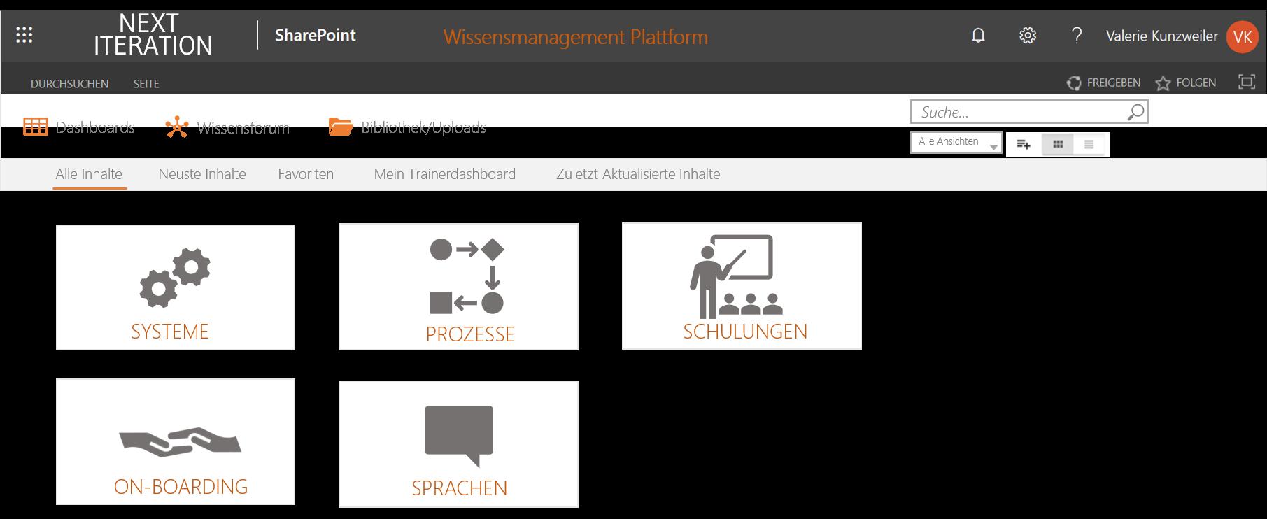 Wissensmanagement Plattform
